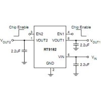 RT9182EPES,Dual, Low-Noise, 200mA LDO Regulator